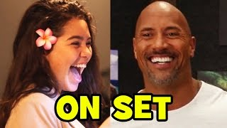 Download MOANA Behind The Scenes With The Cast (Movie B-Roll & Bloopers) - Dwayne Johnson, Auli'i Cravalho Video