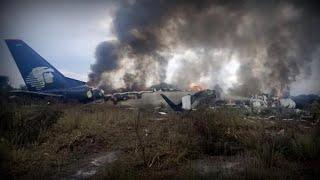 Download Aeroméxico plane crash: Passengers describe explosion Video
