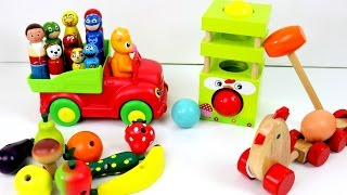Download Paw Patrol Farm with Wooden Toys Animals and Fruits Veg Toys Video