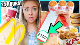 Download Letting The Person In FRONT Of Me DECIDE What I Eat For 24 HOURS! Video