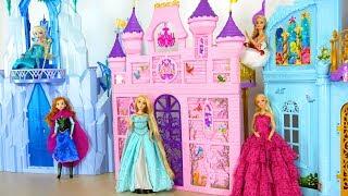 Download Princess Barbie doll Pink Royal Castle - Mermaid Bedroom Putri Barbie Istana Princesa Castelo Video