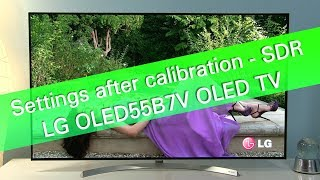 Download LG OLED55B7 and LG 2017 TVs - SDR picture settings and tips Video