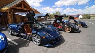 Download Chasing 5 Pagani Huayras in a Lamborghini Aventador SV Video