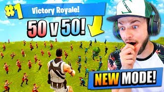Download NEW 50 vs 50 MODE in Fortnite: Battle Royale! Video