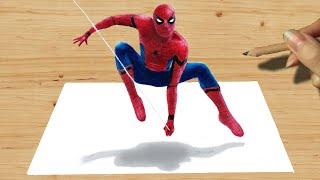 Download 3D Pencil Drawing: Spider-Man NEW COSTUME in Captain America: Civil War - Speed Draw | Jasmina Susak Video