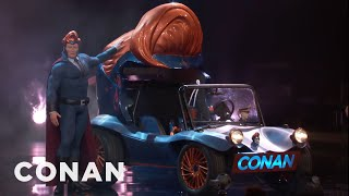 Download Conan Unveils His Superhero Vehicle - CONAN on TBS Video