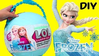 Download LOL Big Surprise CUSTOM Ball Elsa & Anna DIY ! Toys and Dolls Fun for Kids Frozen Blind Bags | SWTAD Video