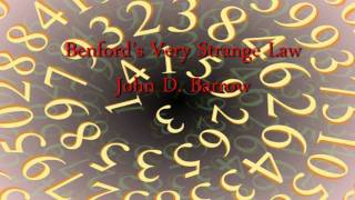 Download Benford's Very Strange Law - Professor John D. Barrow Video