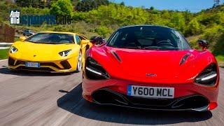 Download McLaren 720S vs Lamborghini Aventador S in ITALIEN - Erster Fahrvergleich - AUTO BILD SPORTSCARS Video