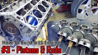 Download Installing Pistons & Rods - Gen 3 vs Gen 4 + Ring Gap for Boost | How to Build a LS Engine (ep3) Video