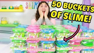 Download MIXING 50 BUCKETS OF SLIMES!! Slimeatory #530 Video