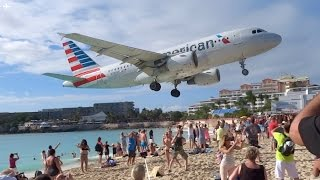 Download Extremely Low Landing at St Maarten Princess Juliana Airport- American Airlines A319 Video