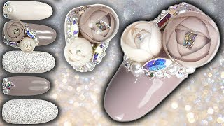 Download CANDY BALL / BUBBLE ROSE NAIL ART TUTORIAL - Bubble Flowers Rose Ball Gel Nails Video