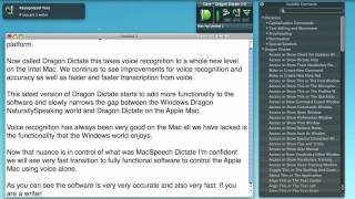 Download Dragon Dictate from Nuance - Voice Recognition For Apple Mac Video