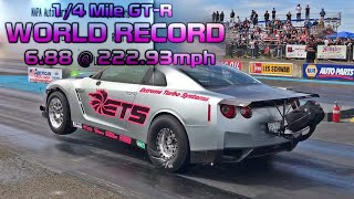 Download WORLD RECORD!!!   ETS goes 6.88@222   the fastest Nissan GTR R35 1/4 mile Video