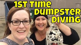 Download Our 1st Time Dumpster Diving Ride Along, Dumpster Dive Haul from Pier 1 Video