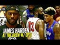 Download James Harden FOOLIN in Drew League DEBUT w/ Chris Paul Watching!! Game Gets HEATED at The End!! Video