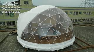 Download 6m Diameter Well-equipped Glamping Dome Hotel - Igloo Style Lodge Tent Video