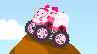Download Amber Robocar Big Wheels Mini Cartoon Video