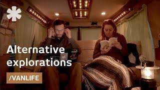 Download Converted van as full-time home for nomadic Canadian couple Video