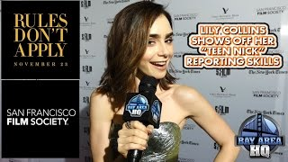 Download LILY COLLINS WAS OUR REPORTER??! RULES DON'T APPLY INTERVIEW & ARRIVALS SAN FRANCISCO WARREN BEATTY Video