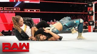 Download Ronda Rousey locks Mickie James in an armbar during the main event: Raw, April 23, 2018 Video