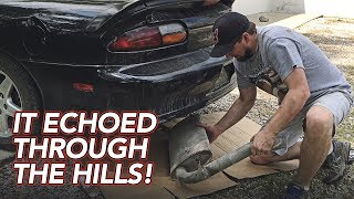 Download V6 Camaro Muffler Delete - Straight pipe - It's so LOUD! Video