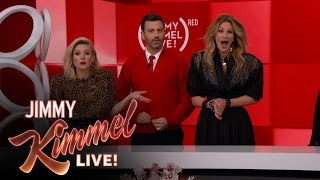 Download The Jimmy Kimmel Live (RED) SHOPATHON with Julia Roberts and Kristen Bell Video