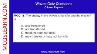 Download Waves Quiz Questions - MCQsLearn Free Videos Video