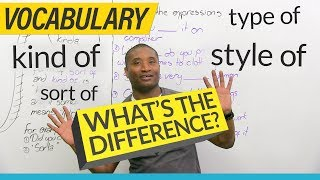 Download Learn English Vocabulary: kind of, sort of, type of, style of... Video