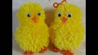 Download pompom chick & bunny tutorial Video