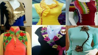 Download Most beautiful neck design 2017, new latest neck design for kurti , top, blouses 2017 Video