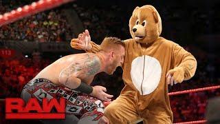 Download Heath Slater & Rhyno vs. The Miz and a bear: Raw, June 12, 2017 Video
