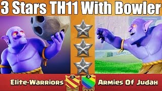 Download Clash Of Clan | 3 Stars TH11 With Q+GW Walk & Bowler - October Update Video