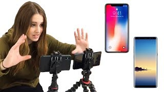 Download iPhone X vs Samsung Note 8 ✨ VIDEO TEST ✨ Video