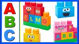 Download Learn ABC Alphabet With ABC MEGA BLOKS Sesame Street Elmo! Fun Educational ABC Alphabet Video For Ki Video