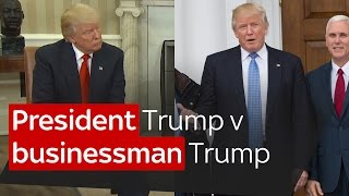Download President Trump v businessman Trump Video