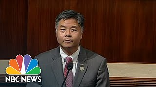 Download Representative Ted Lieu Plays Audio On House Floor Of Crying Immigrant Children | NBC News Video