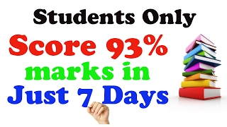 Download How to Score 93% marks in Just 7 Days | Class 12th Boards | Study Tips - 2017 Video