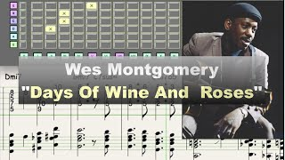 Download Wes Montgomery ″Days Of Wine And Roses″ (1963) - jazz guitar solo transcription video by Gilles Rea Video