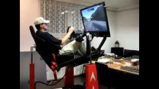 Download Simulation of driving a race car on the track Video