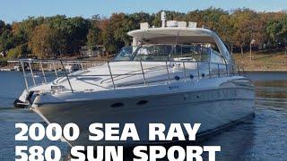 Download 2000 Sea Ray 580 Super Sun Sport Virtual Tour For Sale at MarineMax Grand Lake Video