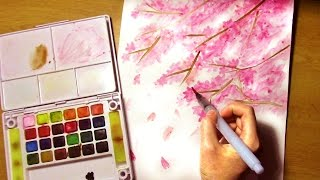 Download How to Paint Cherry Blossom Tree EASY for Beginners PLEASE TURN ON CC Video
