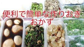 Download 【一人暮らしの料理】作り置きのおかず作りと、野菜の冷凍保存 Video
