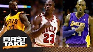 Download Kobe Bryant or LeBron James: First Take debates closest to being Michael Jordan | First Take | ESPN Video