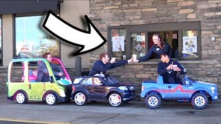 Download TOY CARS IN THE DRIVE THRU! Video