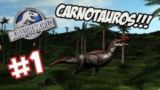 Download CARNOTAUROS EN EL PARQUE!! - Jurassic World Operation Genesis #1 Video