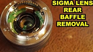 Download How to Remove the Rear Baffle of a Sigma Lens (Sony E-Mount) Video