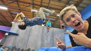 Download TEACHING A CELEBRITY TO BACKFLIP! Video