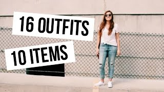 Download 16 OUTFITS FROM 10 ITEMS | Spring Capsule Wardrobe 101 Video